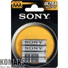Battery SONY R03NUB4A Zinc 4pcs blister AAA