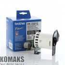 Consumable for printers BROTHER DK-DK22212 Continuous Length White Film Tape 62mmx15.24mm Black on White