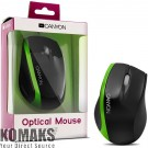 Mouse CANYON CNR-MSO01N, USB Black/Green