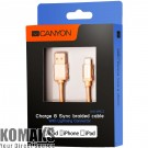 Cable CANYON USB to Lightning USB Type A 4-pin, 0.96 m gold