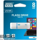 USB flash memory GOODRAM UMO2 8 GB, USB 2.0, 480 Mbps, white