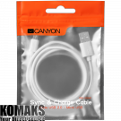 Cable CANYON CNE-USBM1W USB cable 1 m, White