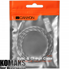 Cable CANYON Lightning USB for Apple 1m Dark grey