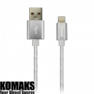 Cable CANYON USB to Lightning Cable, 1 m, Pearl White